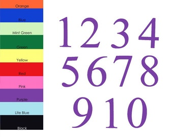 Solid Color Numbers, Basic Number Cut-outs, Number Cut-outs, Paper Numbers