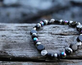 Black Swirl Bracelet