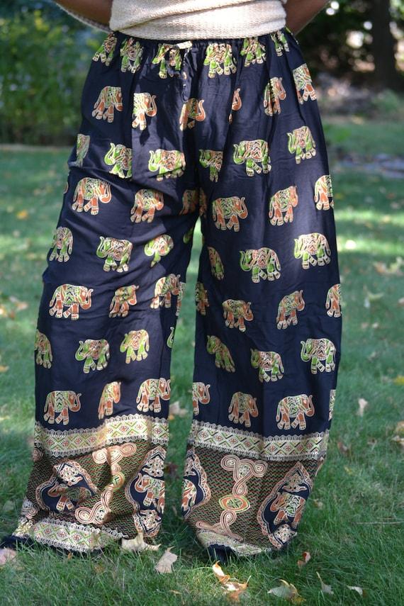 Hand Printed ELEPHANT pants!