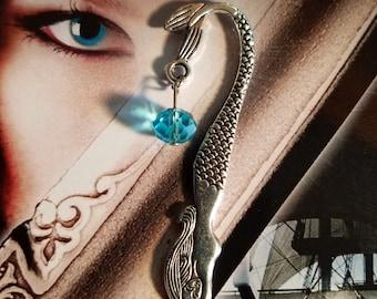 Mermaid bookmark with teal bead