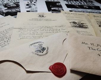 Harry Potter ACCEPTANCE Letter(Personalized) + potion recipes of magic book Hogwarts.