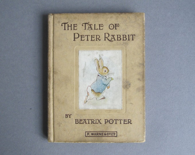 Beatrix Potter - The tale of Peter Rabbit - Book 1 - Childrens bedtime story, short animal stories, small hardcover book, Kids' library
