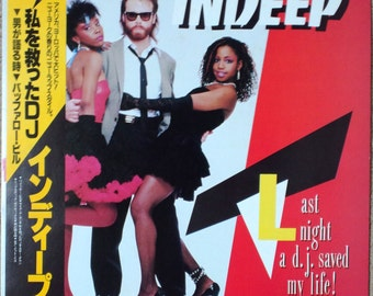 "1983 RARE Album ""NM Wax"" Indeep Last Night A D.J. Saved My Life VIL-6066 Japan"
