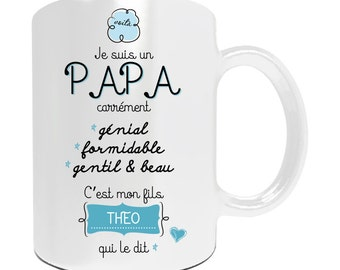 "Christmas gift dad - Mug to be personalized ""I'm a great Dad"" - father's day gift idea"