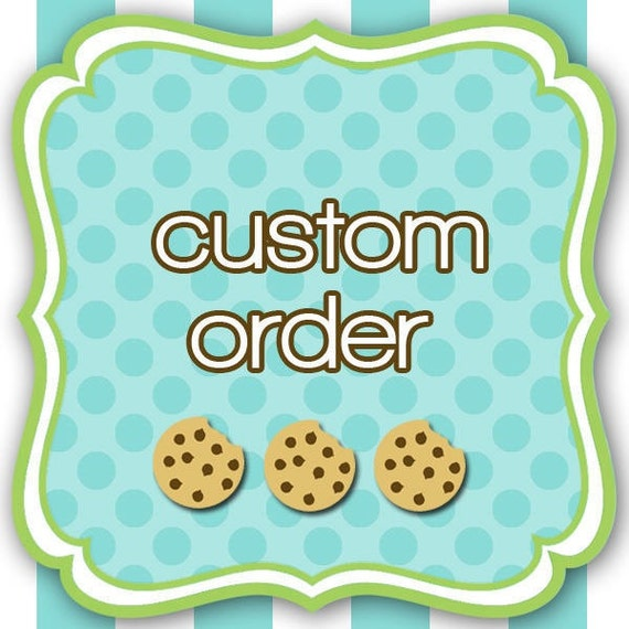 Create your own cookie cutter. Custom order.