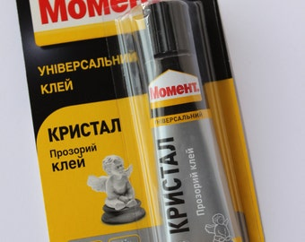 Universal glue, glue Moment 30 ml transparent, strong and resistant to water.