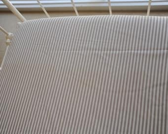 Taupe Stripe Fitted Cot Sheet