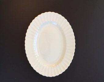 Vintage Serving Platter - J & G Meakin of England - Classic White