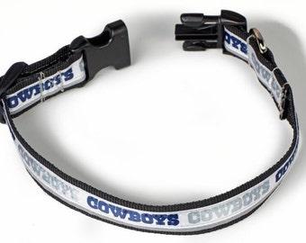 Dallas Cowboys Reflective Dog Collar