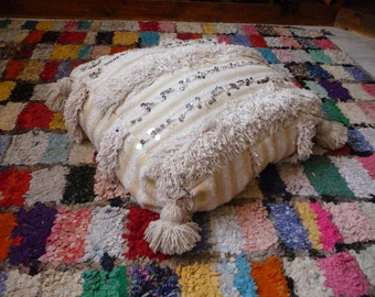 In Hendira Moroccan pouf