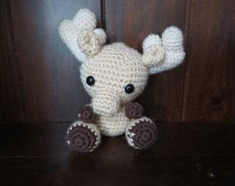 Crochet Moose - Brown