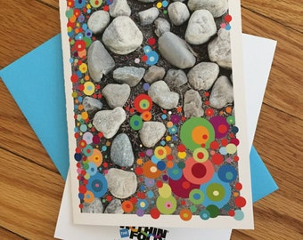 Rocks and Circles Greeting Card - Note Card | Stationery