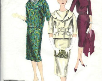 1959 Vintage VOGUE Sewing Pattern B34 DRESS & JACKET (1529) Vogue 184