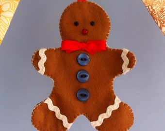 Gingerbread people PDF sewing pattern. Instant download.