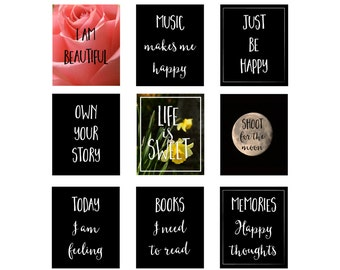 planner journal quotes and inspiring motivational headings printable