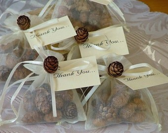 Scented Pine Cone Sachets. Sold in Quantity of 50.