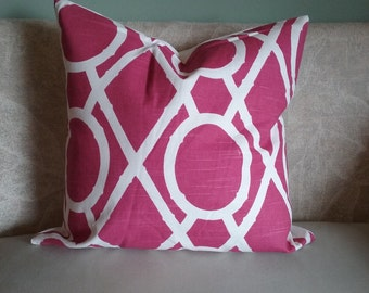 Pink pillow cover, pink, rose, cream, geometric, pillow cover, decorative pillow, accent pillow, home decor