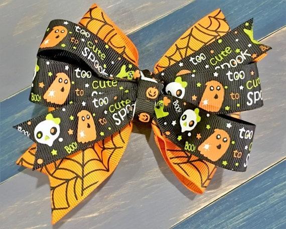 Halloween Too Cute Spook Bow