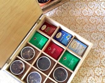 Handmade Wooden Gourmet Tea Box