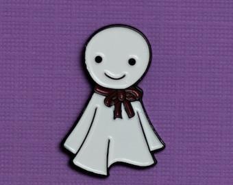 Teru Teru Bozu Ghost Enamel Pin - Lucky Charm