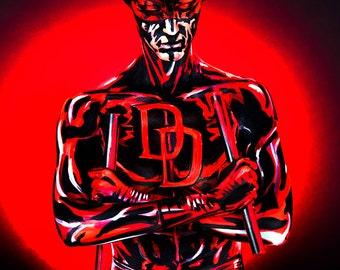 Daredevil Bodypaint 8.5x11 Print