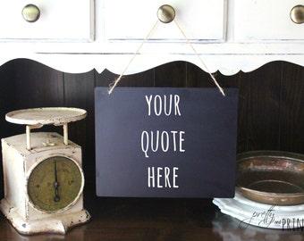 Custom Hand Lettered Hanging Chalkboard