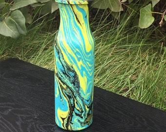 Starry night swirl vase