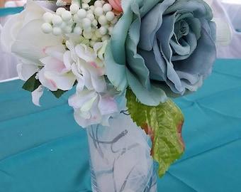 Wedding flower light up vase centerpieces
