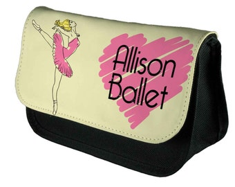 Personalised Make Up Bag/Pencil Case Ballet  by Inspired Creative Design