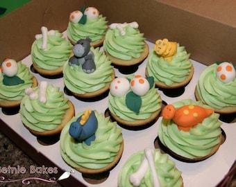 Dinosaur Cupcake / Cake Toppers