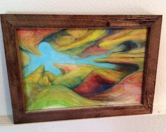 Framed Organic Abstract