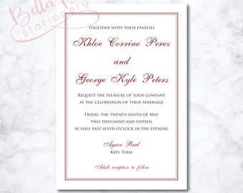 Khloe Wedding Invitation Design
