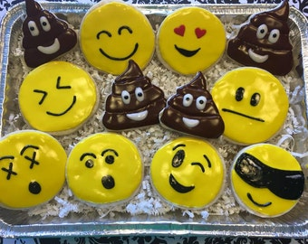 Emoji Sugar Cookies - Includes One Dozen