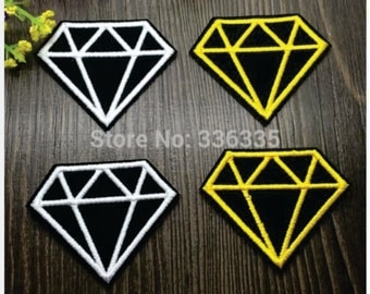 Mixed 10 pcs Diamonds Iron On Patches garment Appliques accessory