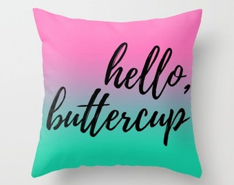 Pink and Mint Green Pillows, Modern Throw Pillows, Teen Girl Room Decor, Pillows with Sayings, Pillow Covers 20x20, 18x18 Pillow Cover