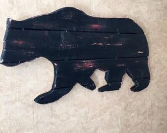 Black bear Silhouette Wall Decor