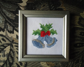 Cross Stitched Christmas Bells