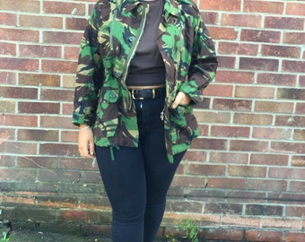 British Army Womens DPM/Woodland Combat Jacket Temperate Aircrew Medium Vintage