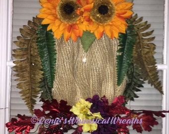 Grapevine Owl Wreath