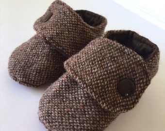 Hipster Brown Tweed Booties