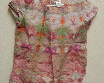Ice Dye, Tie Dye, One Of A Kind, Size 5 Carter's eylet lace girls ice-dyedshirt