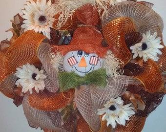Fall Door Wreaths, Autumn Wreaths, Fall Decor, Fall Deco Mesh Wreaths, Front Door Wreaths, Fall Holiday Wreaths, Deco Mesh Holiday Wreaths