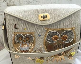 vintage owl bag