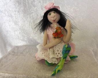 Ella- Cloth Pixie Doll