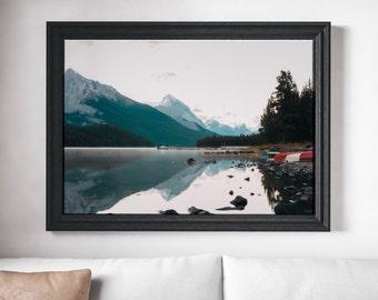 Maligne Lake at Sunrise Digital Print - Beautiful Lake - Landscape - Wall Decor