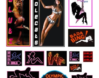 scale model strip club exotic dancer signs