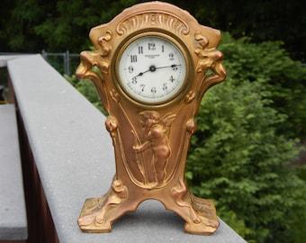 New Haven Clock Company Art Noveau Working Clock