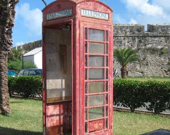 London Red Phone Booth, Bermuda- Print your own wall art