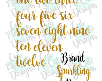 SVG DXF PNG cut file cricut silhouette cameo scrap booking Brand Sparkling New Monthly Milestone Baby