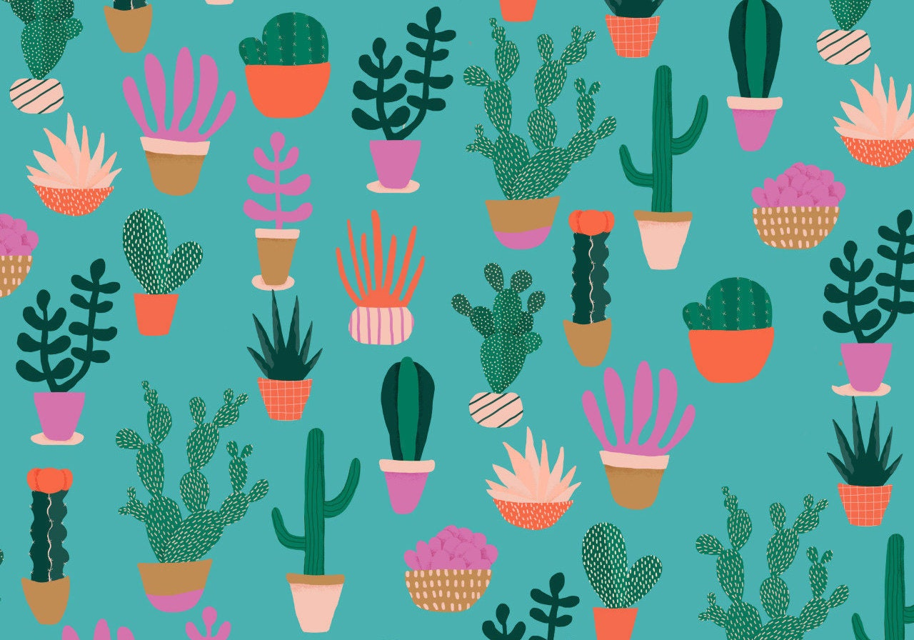 Cacti print by Naomi Wilkinson